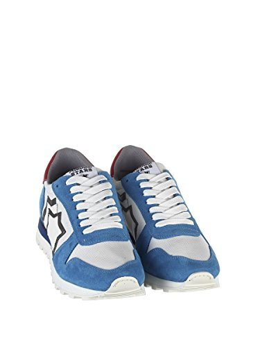 Atlantic Faux White Blue ARGOBANYLB Leather Sneakers Men's Stars Light rYqarg