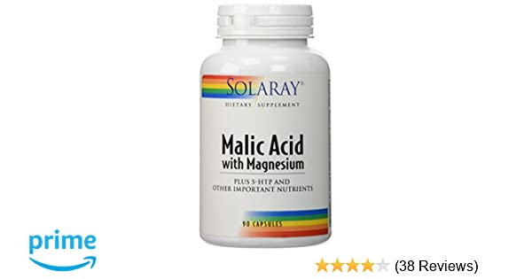 Amazon.com: Solaray Malic Acid with Magnesium -- 90 Capsules: Health & Personal Care