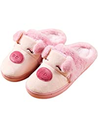 a7ffdf02c3c Women s Winter Piggy Skid-Proof Closed Toe House Shoes Ladies Slippers Cute  Slippers. Blubi