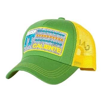 Caliente SKGY1 Unisex Cap - M, Green/Yellow