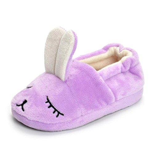 Malloom® Neugeborene Säuglings-Baby-Jungen-Mädchen-Karikatur-Krippe-Schuhe Weiche alleinige Anti-Rutsch-Turnschuhe Lila