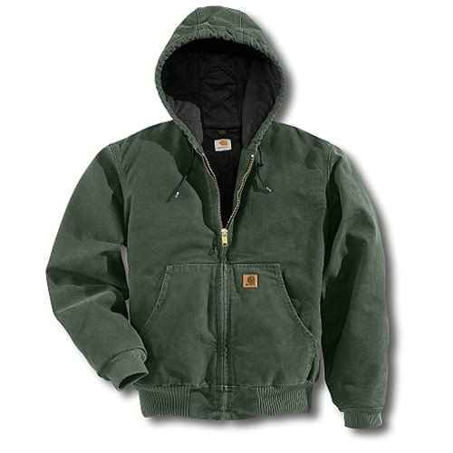 Extremes Active Jacket Carhartt (Carhartt Men's Big & Tall Quilted Flannel Lined Sandstone Active Jacket J130,Moss,Large Tall)