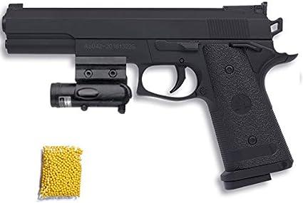 P306 Ming XING Láser - Pistola de Airsoft Calibre 6mm (Arma Aire Suave de Bolas de plástico o PVC). Sistema: Muelle. <3,5J