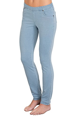 PajamaJeans Womens Skinny Stretch Knit Denim Jeans, Clearwater, Medium / 8-10