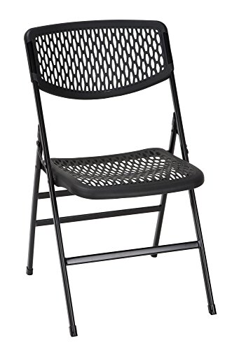 COSCO Commercial Resin Mesh Folding Chair, Black, 4-pack (Mitt Chair)