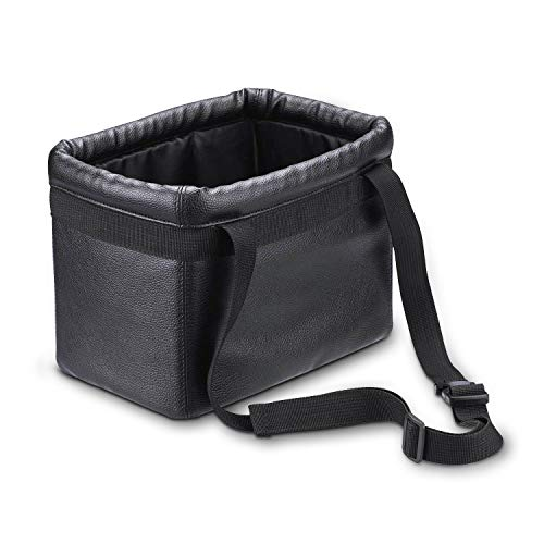 (KINGBERWI Leather Car Trash Can Hanging Luxury Car Garbage Bag Auto Trash Container,)