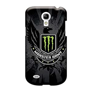 Shock-Absorbing Cell-phone Hard Cover For Samsung Galaxy S4 Mini With Support Your Personal Customized Stylish Monster Army Logo Series IanJoeyPatricia