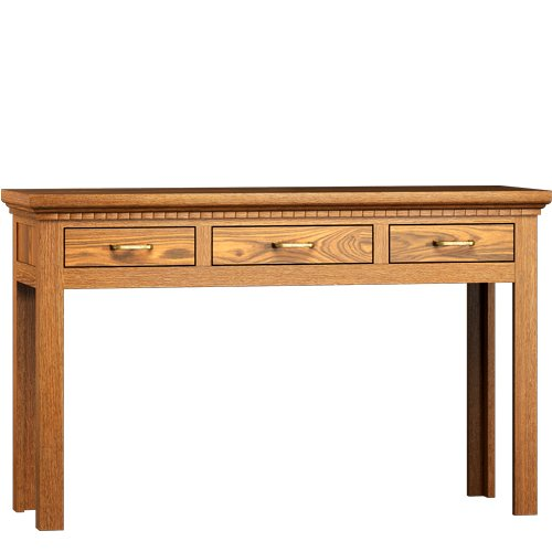 Tisch mit Schubladen 80/180/90 - Echtholz massiv Holz - klassisch & elegant - Weiß matt