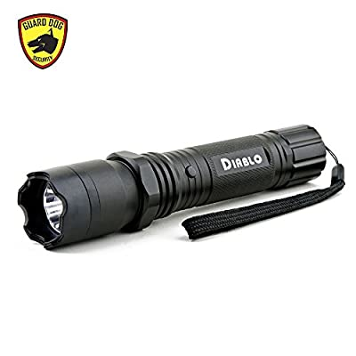 Guard Dog Diablo Tactical Stun Gun Flashlight, Maximum Voltage, Ultra Bright LED Bulb, Rechargeable from Guard Dog Security