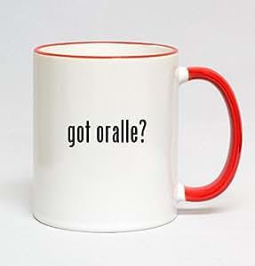 11oz Red Handle Coffee Mug - got oralle?