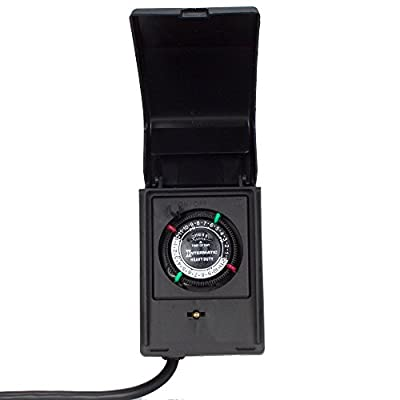 Intermatic Heavy Duty Outdoor Timer 15 Amp/1 HP (Renewed)