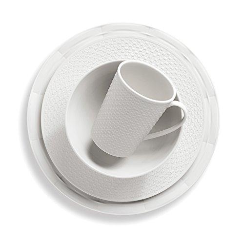 Lenox 4-Piece Entertain 365 Sculpture Mixed Round Place Setting, White