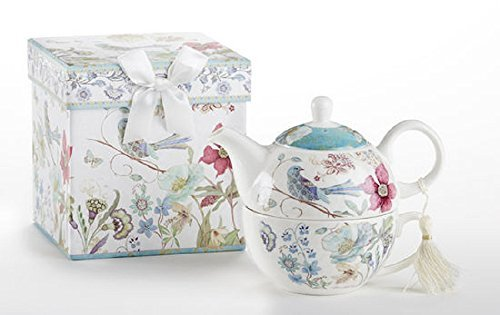 Delton Product Porcelain Tea for One in Gift Box Partridge 5.8