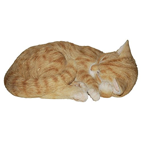 Vivid Arts Vivid Arts Sleeping Cat Statue, Brown, Polyresin