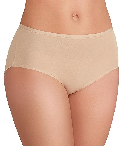 TC Fine Intimates Wonderful Edge Modal Brief, L, Nude Modal High Cut Panties
