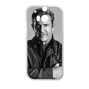 Preview Mel Gibson The Expendables 3 2 funda HTC One M8 caja funda del teléfono celular del teléfono celular blanco cubierta de la caja funda EVAXLKNBC25985