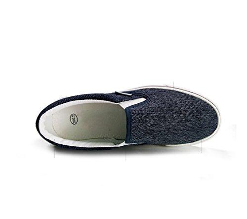casual basse Scarpe uomo basse uomo WFL da pedale basse scarpe da da traspiranti Nero scarpe scarpe di scarpe uomo un tela pigro BHdH8w