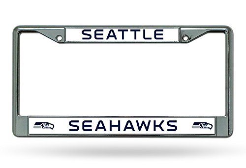 NFL Seattle Seahawks Chrome License Plate Frame