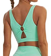 TomTiger Women Sports Bra High Impact with Removable Padded Activewear Tank Tops for Yoga Work...