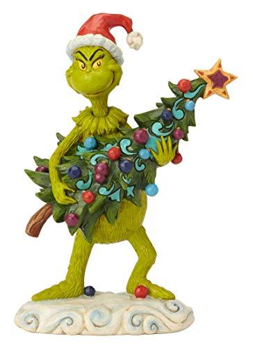 Jim Shore Christmas - Enesco Dr. Seuss The Grinch by Jim Shore Stealing Tree Figurine, 8.66