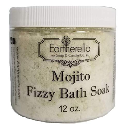 (Luxurious relaxing MOJITO scented Fizzy Bath Soak with Epsom salts, Large 12 oz jar)