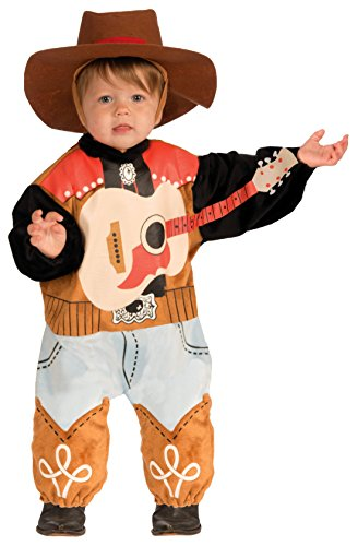 [Forum Novelties Baby Boy's Lil' Rock Star Country Singer Costume, Multi, Infant] (Music Stars Halloween Costumes)