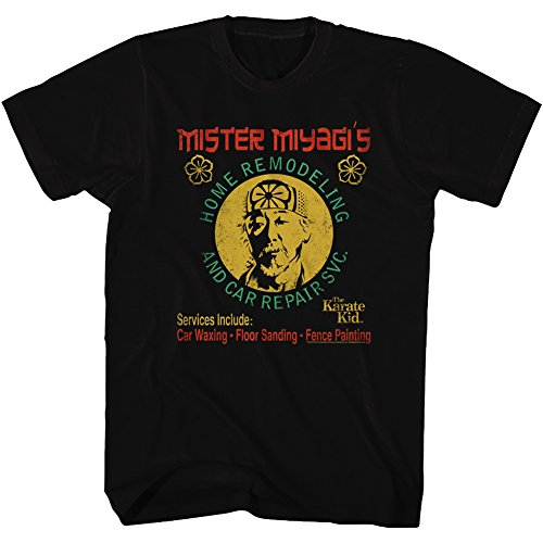 The Karate Kid T-Shirt Mister Miyagi's Home Remodeling Black Tee, 5XL -