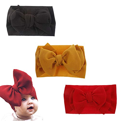 - Nylon Baby Girls Knotted Headbands Stretchy Head Wraps Newborn Headbands Bows For Infant Toddlers Kids