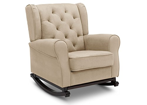 Delta Furniture Emma Upholstered Rocking Chair, Ecru Nursery Rocker