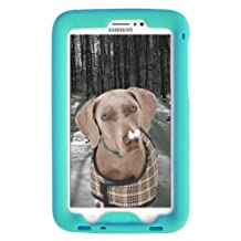 Bobj Rugged Case for Samsung Galaxy Tab PRO 8.4 inch, SM-T320 (WiFi), SM-T321 (3G & WiFi), SM-T325 (3G, 4G/LTE & WiFi) (Not for Tab3 8 inch) - BobjGear Protective Tablet Cover (Terrific Turquoise)
