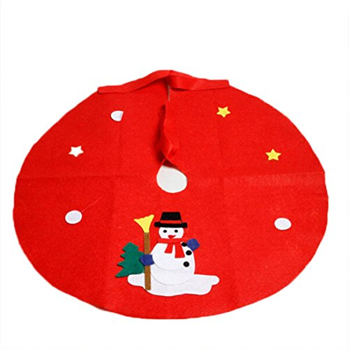 Charlie Brown Costume Pattern (2016 Christmas Tree Skirts!Elevin(TM)Hot Sale Christmas Non-woven Christmas Tree Santa Claus Snowman Skirts Party Decoration Supplies (L, B))