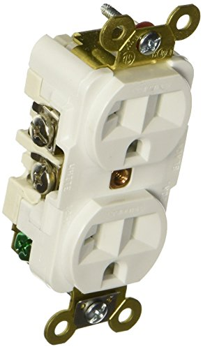 Hubbell HBL5362W Duplex Receptacle, HD Industrial Grade, 20 amp, 125V, 5-20R, White from Hubbell