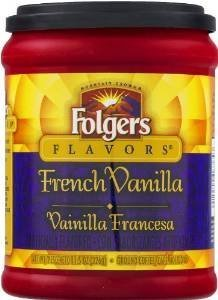 Fresh Taste of Folgers Coffee, French Vanilla Flavored Ground Coffee, Mellow & Smooth Flavor, 11.5 Oz Canister - (1 pk) - Folgers French Coffee