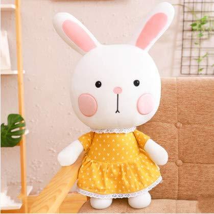 XXCKA Bunny Plush Toy Cute Yellow Rabbit Doll White Rabbit Doll Pillow Girl Doll 80Cm