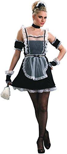 Forum Novelties Women's Plus-Size Chamber Maid Plus Size Costume, Black/White, Plus -