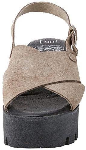 COOLWAY Kala, Sandalias con Plataforma Para Mujer Beige (TAU)
