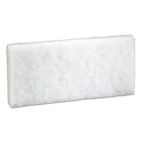 3M(TM) Doodlebug(TM) White Cleaning Pad 8440, 4.6 in x 10 in, 5/box