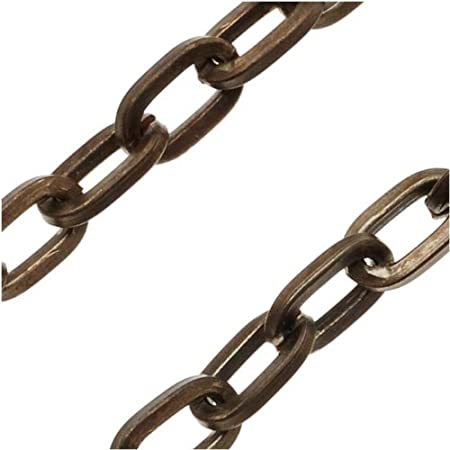 100 pcs of Antiqued brass square links 8mm