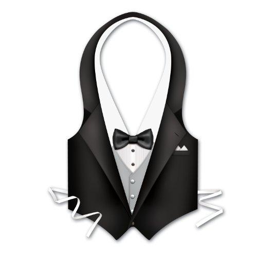 Pkgd Plastic Tux Vest Party Accessory (1 count) (1/Pkg) (Vest Plastic)