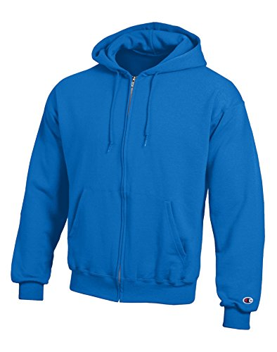 Ash Sweatshirt Zip Full Hoody (Champion Adult 50/50 Full-Zip Hooded Sweatshirt, Ash, Large)