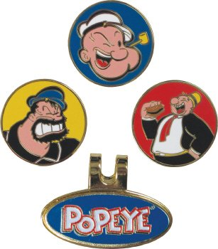Winners Edge Popeye Hat Or Cap Clip And Golf Ball Marker Set by Winning Edge