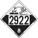 Labelmaster ZEZ42922 UN 2922 Corrosive Hazmat