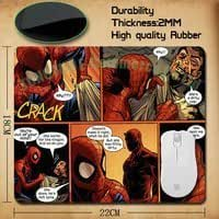 top fashion ultimate spider man printed pattern comfortable optical mouse pad computer mouse pad
