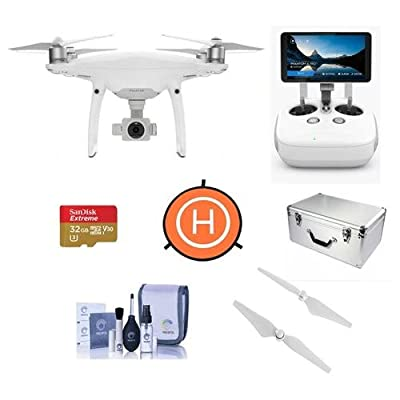 DJI Phantom 4 Pro Quadcopter Drone with 5.5in FHD Screen Remote Controller - Bdle With 32GB MicroSDHC U3 Card, DJI Aluminum Case, DJI Quick-Release Propellers, and More