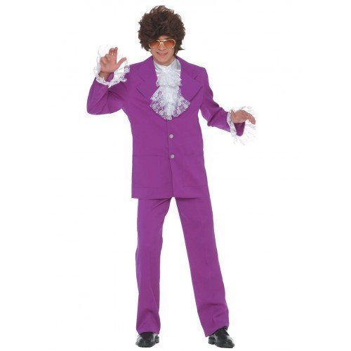 f1718c47d473 Mens 1960s 60s Austin Powers Mojo Man Stag Do Halloween Fancy Dress Costume  Outfit: Amazon.co.uk: Clothing