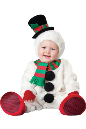 InCharacter Costumes Baby's Silly Snowman Costume, White, -