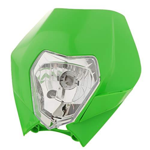 Shiwaki Green+Clear 12V Front Head Lamp, Headlight Indicator Fairing, Headlight Fairing Kit Universal for KTM Motorcycle Dirt Bike: