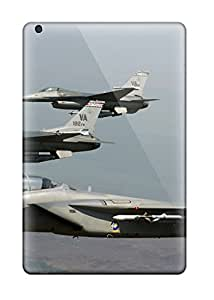 Rugged Skin Case Cover For Ipad Mini 3- Eco-friendly Packaging(f 15 Eagle Joined F 16 Fighting Falcons)