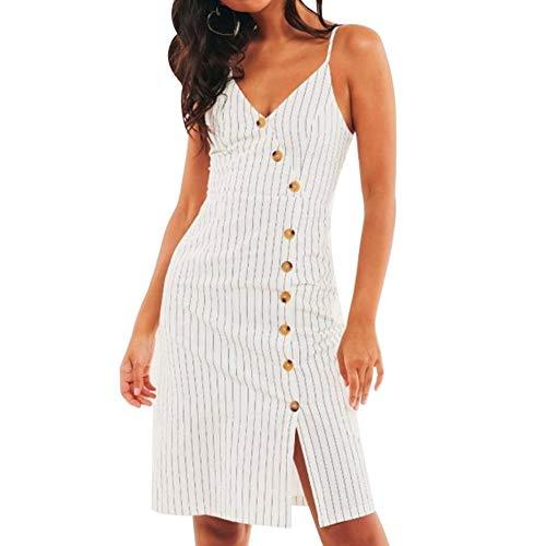 Hx Med Stripe Kjole Hvid Frontal Women's Plus Elegant Afslappet pIqSw0w