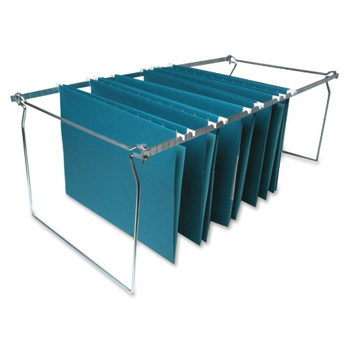 Sparco Hanging File Folder Frames Stainless Steel Letter Size Width and Adjustable Length SPR60529
